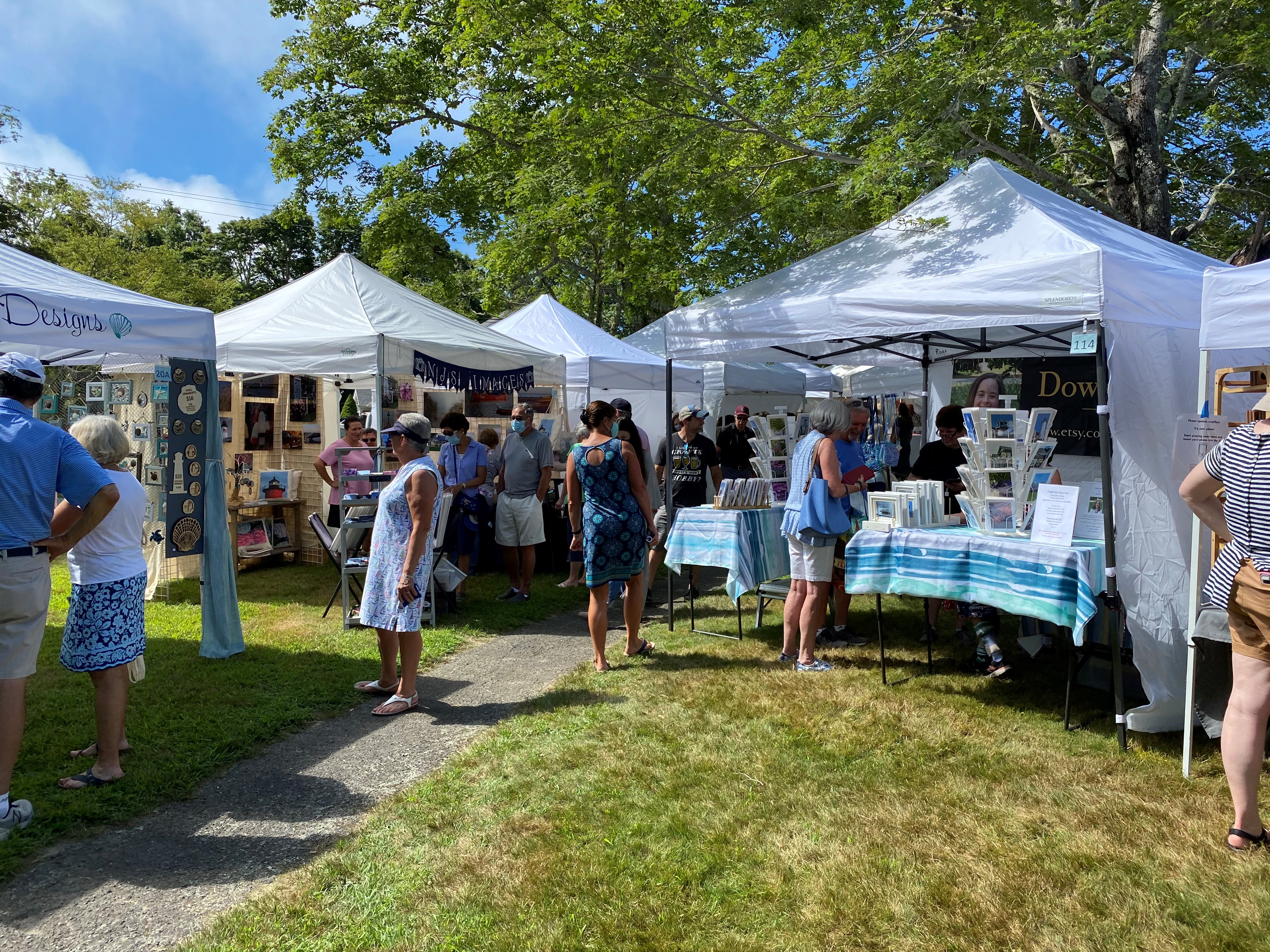CraftFest Cotuit Shoppers at Tents